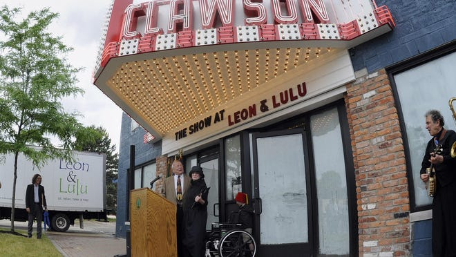 "The historic former Clawson Movie Theater, which they call ""the Show"" is where Mary Liz Curtin and Matt Prentice will open Three Cats and a Cook, a small plates restaurant with a full bar."