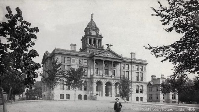 The Ionia County Courthouse, back in the day.