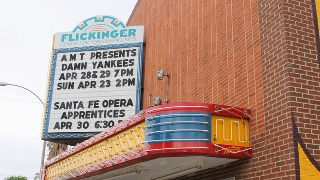 The Flickinger Center for Performing Arts will replace the upper portion of the marquee sign.