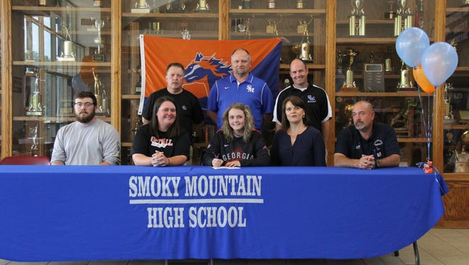 Smoky Mountain senior Katie Fortner has signed to play college softball for Georgia Highlands.