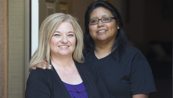 Tara Roy-Pablo (left) and Cleo Pablo married May 10, 2015.