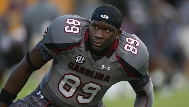 South Carolina tight end Jerell Adams' draft stock has been on the rise.