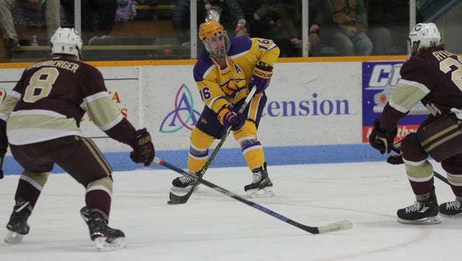 Tanner Karty was named the WIAC men's hockey player of the year after helping lead the Pointers to a regular season title.