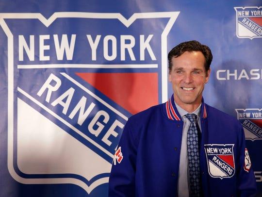 The New York Rangers new head coach David Quinn poses