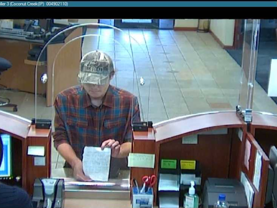"This bank surveillance photo shows the ""Shaky Bandit,"" authorities said."