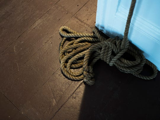 Rope from a noose inside the Underground Railroad Museum in Eastampton.