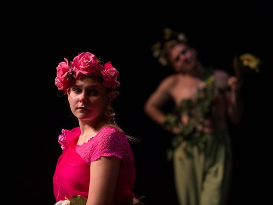 Kimberly Starts plays Titania  in 'A Midsummer Night's