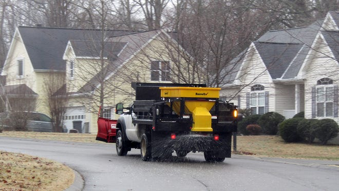The City of Fairview Public Works Department began salting city streets at 6 a.m. on Friday.
