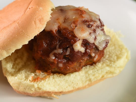 Zesty Meatballs Sliders are perfect for game watching.