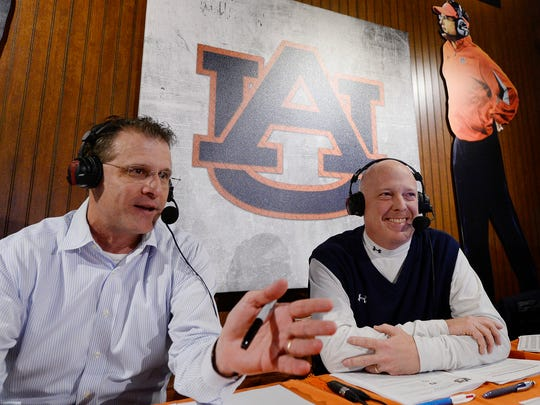 Auburn coach Gus Malzahn appears on Tiger Talk with Tigers radio broadcaster Rod Bramblett.