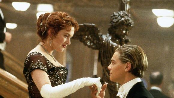 Jack Dawson (Leonardo DiCaprio) greets Rose DeWitt