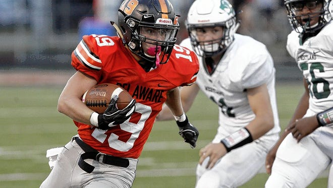 Senior running back Logan Eubanks is expected to be among the top performers for the Delaware Hayes football team, which will open at Big Walnut on Friday, Aug. 28, in an OCC-Capital Division game.