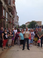 Dale Basham giving parent tours during Ball State University