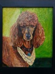 Tawni Claussen's portrait of one of Jennifer Biggins' dogs.
