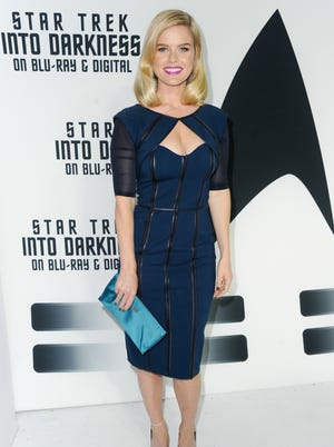 Alice Eve attends Paramount Pictures' celebration of the Blu-Ray and DVD debut of 'Star Trek: Into Darkness.'