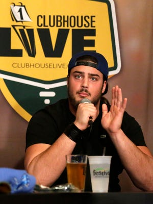 Green Bay Packers left tackle David Bakhtiari co-hosted Clubhouse Live on Monday, Gannett Wisconsin Media's weekly pro football show from The Clubhouse in downtown Appleton. Packers right tackle Bryan Bulaga was Bakhtiari's guest. Watch a replay of the show at clubhouselive.com.