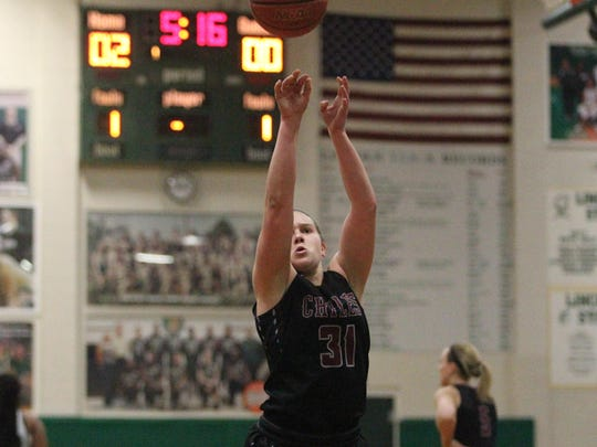 Chiles' Allee Auringer shoots a free throw against Lincoln.