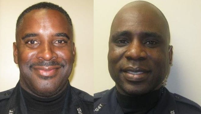 Officers Dwight Tyler, left, and Torray Walker.