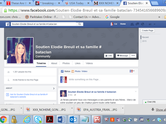 Friends of Elodie Breuil created a Facebook page in
