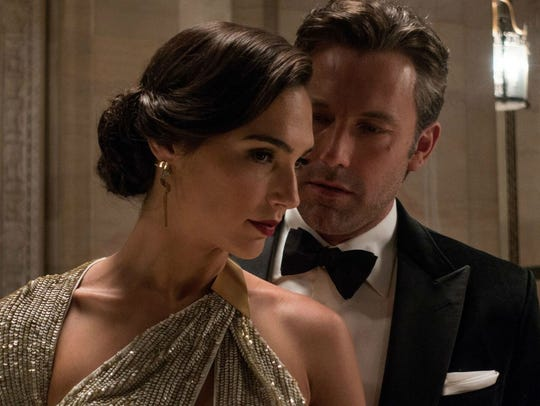 "Gal Gadot and Ben Affleck in ""Batman v Superman: Dawn"