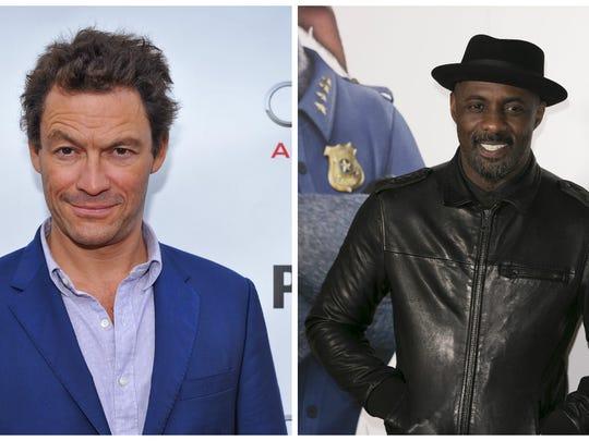 Dominic West, left, and Idris Elba voice the sea lions