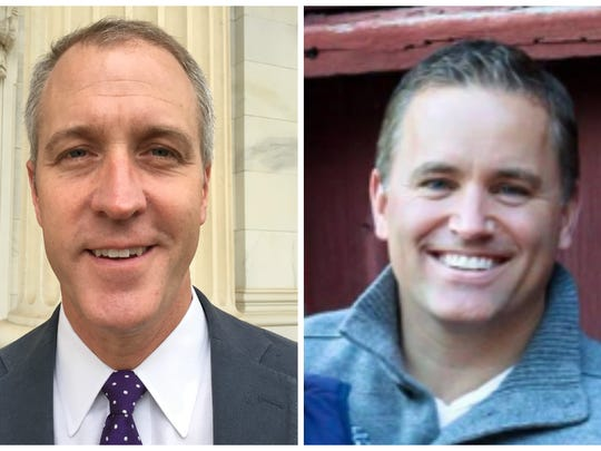 Democratic Rep. Sean Maloney, left, and Republican Phil Oliva are running in the 18th Congressional District.