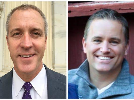 Democratic Rep. Sean Maloney, left, and Republican