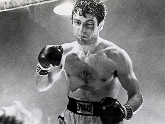 "Robert De Niro stars as Jake LaMotta in the 1980 biopic ""Raging Bull,"" considered one of the greatest movies ever."
