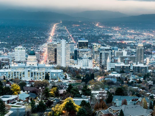 The population of Utah grew by 2.0% in 2016, nearly