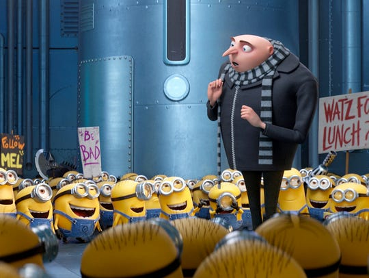 Gru (voice of Steve Carell) and the Minions return