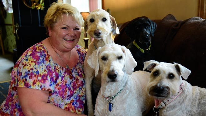 Bobbi Beck, of Oak Harbor, said having pets has helped her cope with tough times.