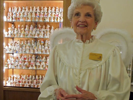 Sometimes Joyce Berg dresses up as a you-know-what at her Angels Museum in Beloit.