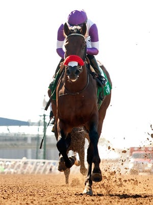 Nyquist and jockey Mario Gutierrez won the Grade II, $200,000 Best Pal at Del Mar and now shoot for the Grade I Del Mar Futurity.