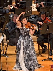 Karen Gomyo performing the Sibelius Violin Concerto with the CSO.
