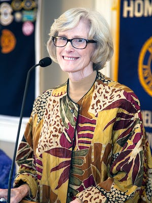 Darla Harmon, executive director of the Center for Contemporary Arts, spoke at the Feb. 1 meeting of the Kiwanis Club of Abilene.