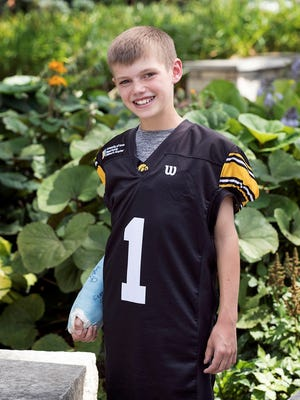 Drew Steffen, 10, son of Elly and Brad Steffen, of Atkins, Iowa, will serve as Kid Captain when the Hawkeyes host Penn State on Sept. 23.