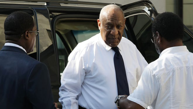 Bill Cosby arrives at the Montgomery County Courthouse on June 13, 2017, in Norristown, Pa. to await jury verdict in his sexual assault trial.
