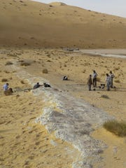 A view of the excavations at the Al Wusta site, Saudi