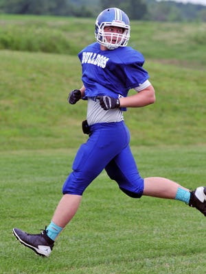 Crestline's Nate Coffman during the North's practice Monday at Plymouth High School.