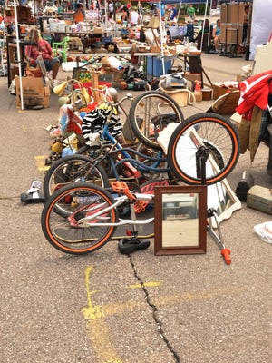 Bicycles were among items on sale at last year's Lucky Squirrel Festival.