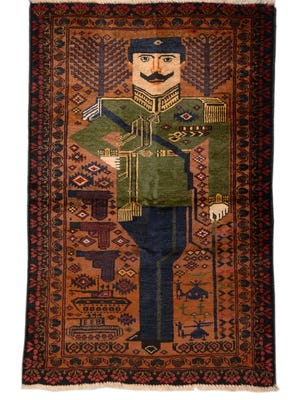 Portrait Rug of Amanullah Khan: Afghanistanacquired in Zurich (Switzerland), 1980s. Curated by Enrico Mascelloni and Annemarie Sawkins, PhD.