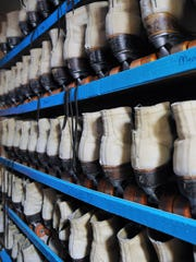 Skates await use at the SK8 Factory in Bucyrus.