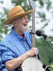 Pete Seeger performs as the Beacon Sloop Club holds its annual strawberry festival Sunday, June 12, 2011 in Beacon.