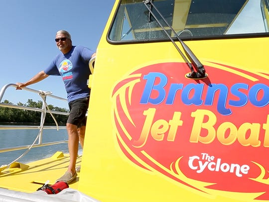 A deckhand aboard The Cyclone, also known as the Branson