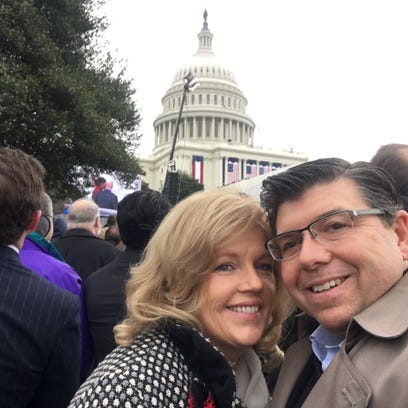 Assemblyman Anthony Bucco with his wife, Amy, as they