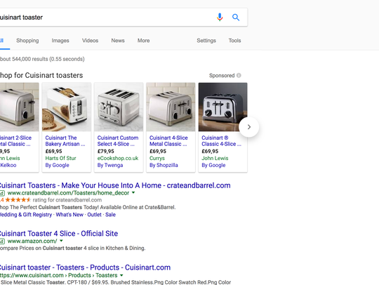 Changes to Google shopping search results in Europe