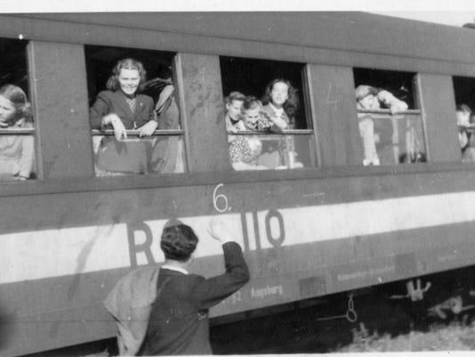 Lydia Zakrewsky on train in Germany.jpg
