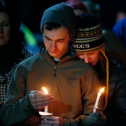 A candlelight vigil in Colorado Springs on Nov. 28,