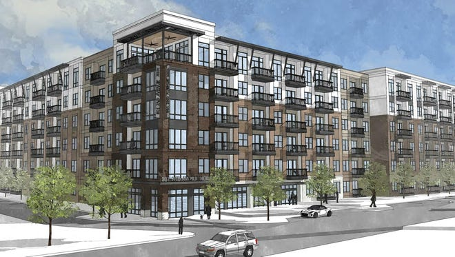 A rendering of the Provident Germantown apartments planned at 801 Second Ave. N.