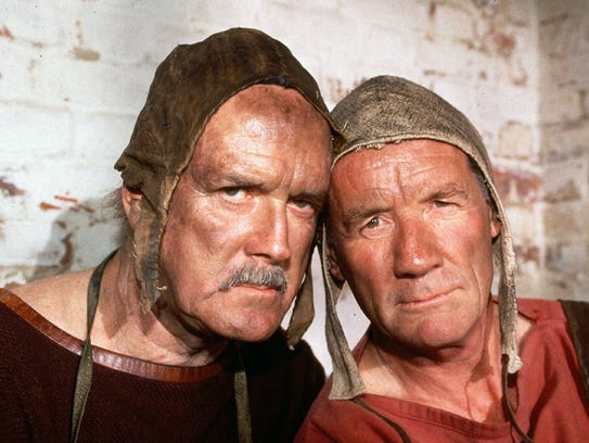 "John Cleese and Michael Palin go medieval, à la ""Monty"